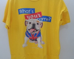 Camiseta Bulldog Inglês – What´s Your Name