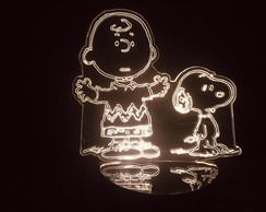 Luminária Led 3d Snoopy E Charlie Brown Peanuts