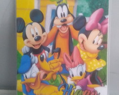 Estojo de Colorir Personalizado Turma do Mickey