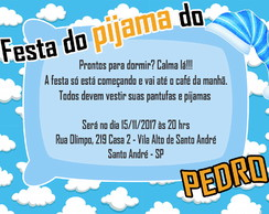 Arte Convite Digital - FESTA DO PIJAMA