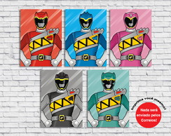 Poster Digital Power Rangers (Arquivo A4 para download)