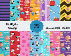 KIt Digital papeis snoopy