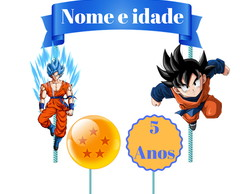 Topo de bolo do Dragon ball