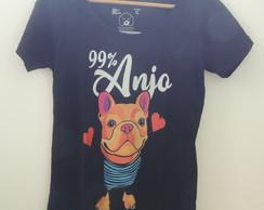 ... Camiseta Bulldog Francês – 99% Anjo 8e4b1a65fa7a1