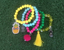 Mix pulseiras abacaxi summer by Vic