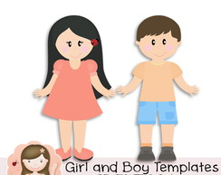 Girl and Boy Templates by Simone Rocha