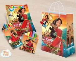 Kit colorir giz massinha e sacola Elena de Avalor