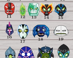 Máscaras Aliens do Ben 10