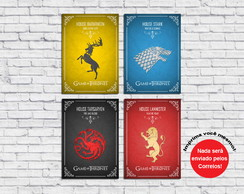 Poster Digital Game of Thrones (Arquivo A4 para download)