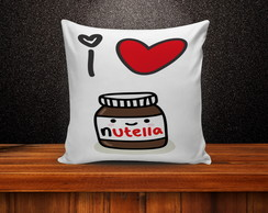 Almofada Decorativa I Love Nutella