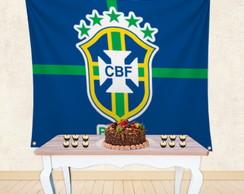 Painel Festa em Tecido Time de Futebol Brasil Mod 9  77cbc8250d9d2