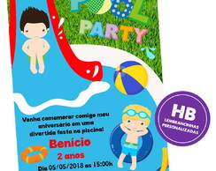 Convite Pool Party