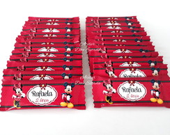 Barrinhas de Chocolate Personalizadas - Mickey e Minnie
