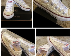 All Star Luxo com Perolas e cristais !