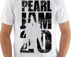 Camiseta Camisa Pearl Jam Banda 20 Anos Rock Alternativo