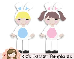 Easter Kids Templates by Simone Rocha