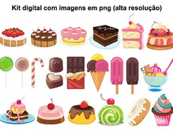 Kit Clipart Doces (arquivo para download)