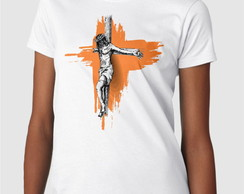 Camiseta Baby Look - Jesus na Cruz