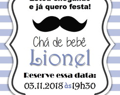 Arte Digital - Save the date BIGODE para envio digital