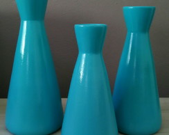 TRIO DE VASOS BALLY AZUL TIFFANY