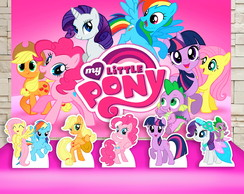 Kit Festa Prata Painel + Display My Little Pony Ponei