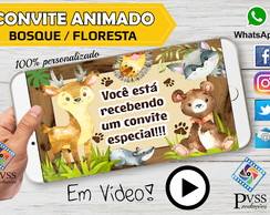 VIDEO CONVITE ANIMADO BOSQUE FLORESTA