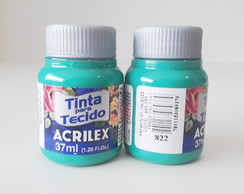 Tinta Tecido Verde Country-822-Acrilex 37ml