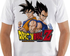 Camiseta Camisa Dragon Ball Z Goku e Vegeta