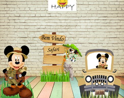 Kit Mickey Safari - mdf