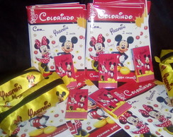 Kit colorir com estojo Minnie