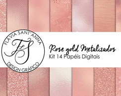 KIT PAPEL DIGITAL - ROSE GOLD