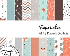 KIT PAPEL DIGITAL - RAPOSAS