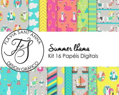 KIT PAPEL DIGITAL SUMMER LHAMAS