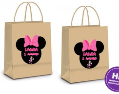 Sacola Kraft Minnie Mouse