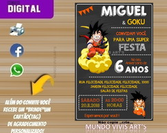 CONVITE DIGITAL DRAGON BALL