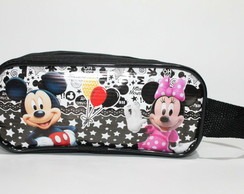 Estojo Mickey e Minnie Black