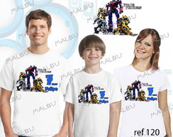 Kit 5 Camiseta Aniversario Transformers