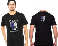 Camisa Camiseta Attack On Titan Shingeki Escudo