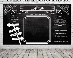 Painel chalk para casamento