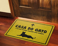 Capacho Criativo Casa do Gato