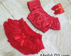 ... Kit infantil top calcinha bunda rica e tiara para bebes a4c85aac490