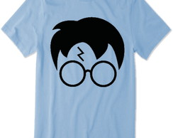 Camiseta do Harry Potter (Azul) rosto do harry