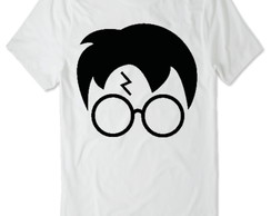 Camiseta do Harry Potter (Branca) rosto do harry