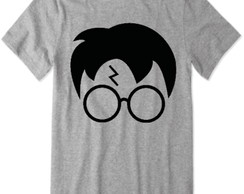 39 Camisetas do Harry Potter (cinza) rosto do harry