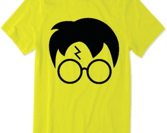 Camiseta do Harry Potter (Amarelo) rosto do harry