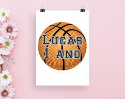 ... Arte digital Pôster quadro com texto - bola basquete b0b3e20703eb8