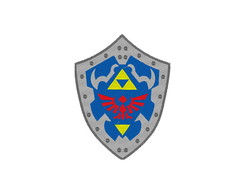 Patch Bordado Escudo Hylian - The Legend of Zelda - Grande