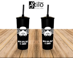 COPO LONG DRINK TAMPA E CANUDO STAR WARS