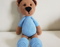 Quem não gosta de um ursinho? 🐻Rei Urso🐻 💖Amigurumi feito com ...   194x244