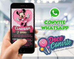 CONVITE WHATSAPP MINNIE